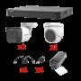 KIT TurboHD 1080p / DVR 4 Canales / 2 Cámaras Bala (exterior 2.8 mm) / 2 Cámaras Domo (interior 2.8 mm) / Transceptores / Conect
