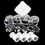 KIT TurboHD 1080p + Disco duro 1 TB / Hik-Connect / DVR 4 Canales / 4 Cámaras Bala / Cables / Fuente de Poder Profesional